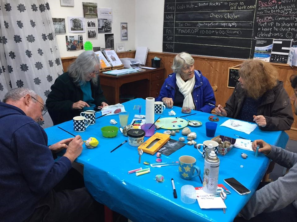 participants taking part in craft hub