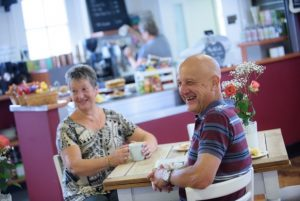 BS3 lunch club - two people at cafe